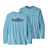 Patagonia Men's Long Sleeve Capilene Cool Daily Fish Graphic Shirt
