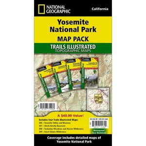 National Geographic Yosemite National Park Map Pack Bundle