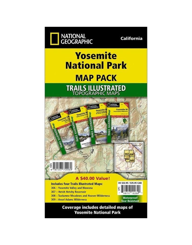 National Geographic Yosemite National Park Map Pack Bundle