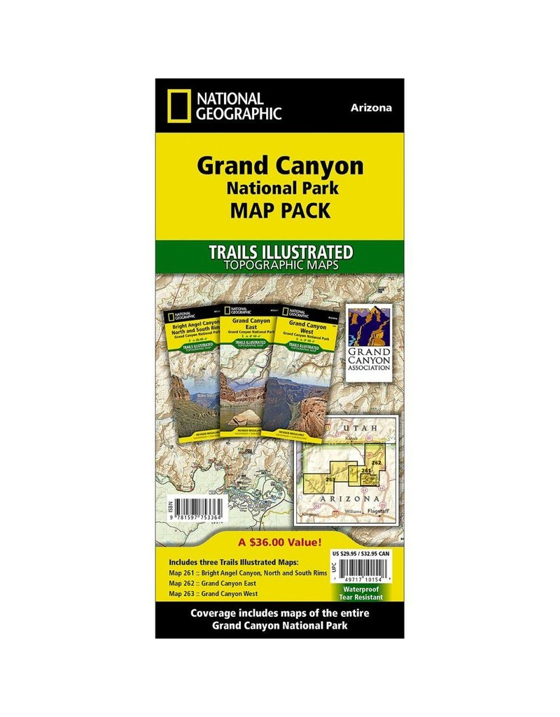 National Geographic Grand Canyon National Park Map Pack Bundle