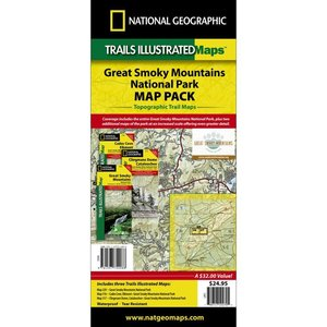 National Geographic Great Smoky Mountains National Park Map Pack Bundle