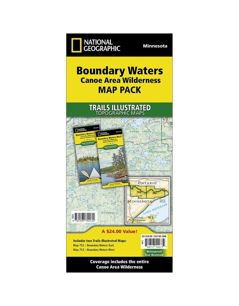 National Geographic Boundary Waters Map Pack Bundle