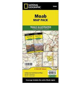 National Geographic Moab Map Pack Bundle
