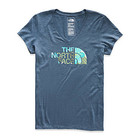 The North Face Women's SS Half Dome V-Neck Triblend Tee Closeout