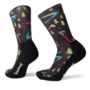 SmartWool Men's Hike Light Sharp Things Print Crew Socks