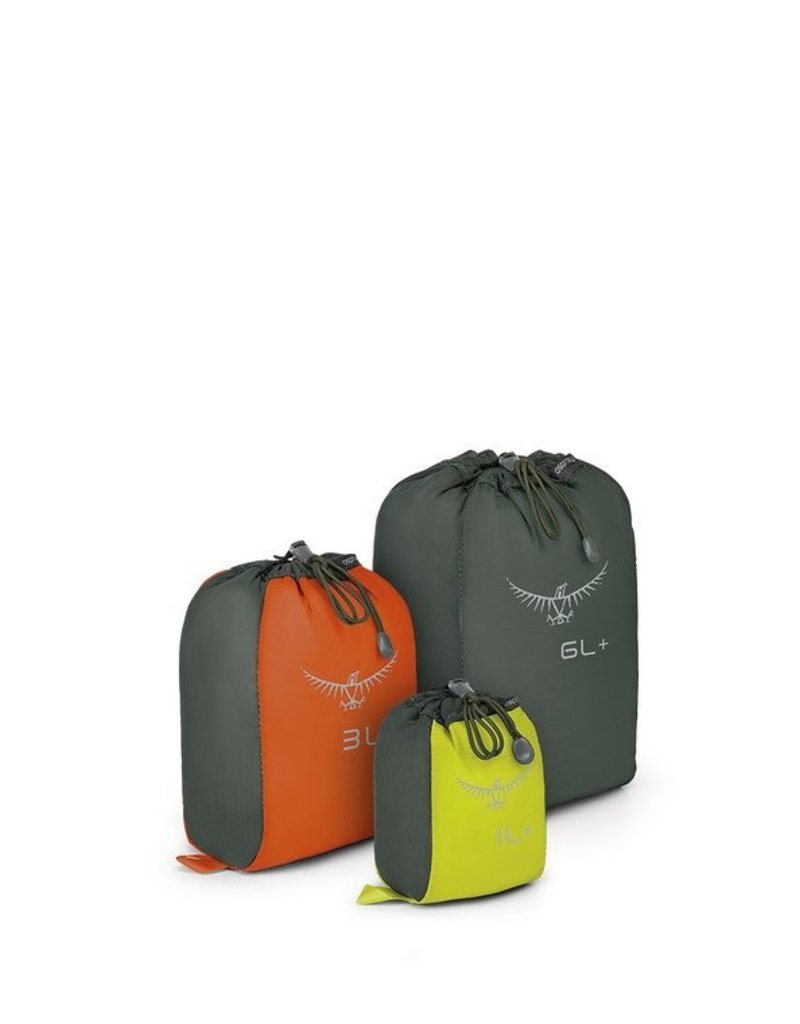 Osprey Packs UltraLight Stretch Mesh Sack Set 1L Lime/3L Orange/6L Grey Closeout
