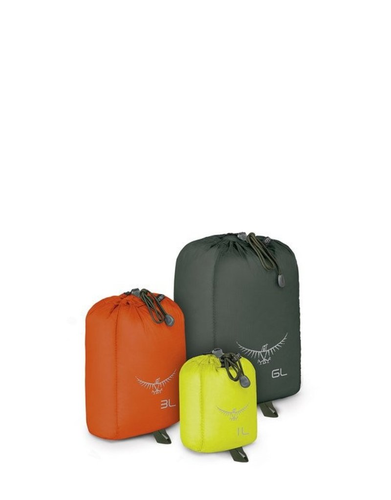 Osprey Packs UltraLight StuffSack Set 1L Lime/3L Orange/6L Grey