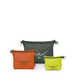 Osprey Packs UltraLight Zipper Sack Set Lime/Orange/Grey S/M/L
