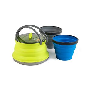 Sea to Summit X-SET 11 - 3 Piece - X Kettle - 1.3L & 2 X Mugs - Lime Green
