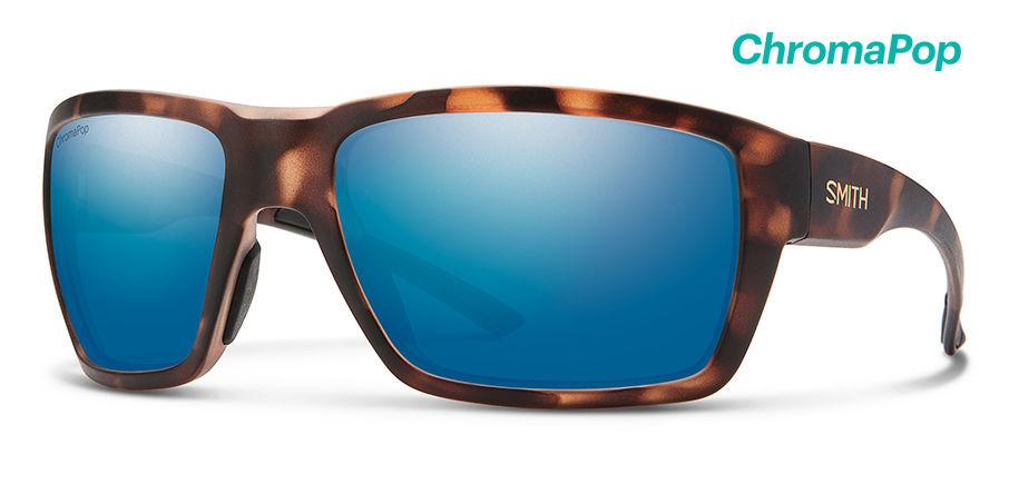 2c6fa5a7e56 Smith Optics Highwater Sunglasses Matte Tortoise ChromaPop+ Polarized Blue  Mirror Lenses