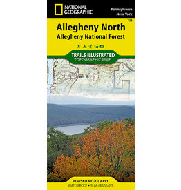 National Geographic Allegheny National Forest Map - Allegheny North