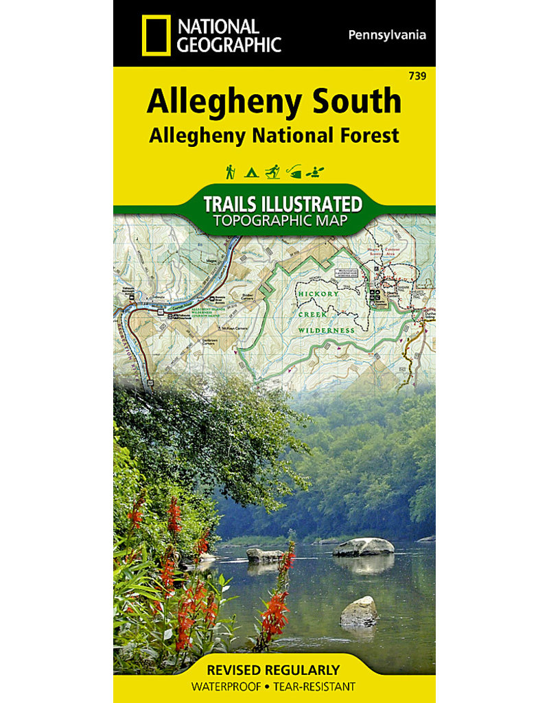 National Geographic Allegheny National Forest Map - Allegheny South
