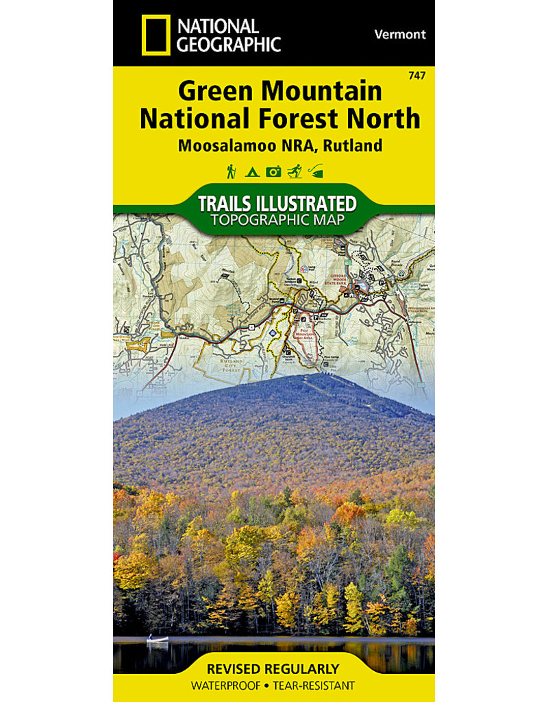 National Geographic Green Mountain National Forest North T.I. Topographical Map