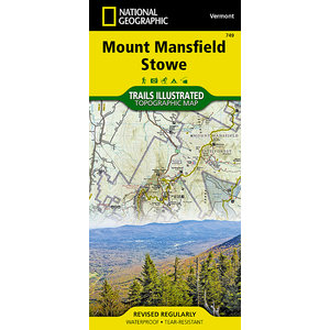 National Geographic Mount Mansfield/StMount Mansfield/Stowe T.I. Topographical Map