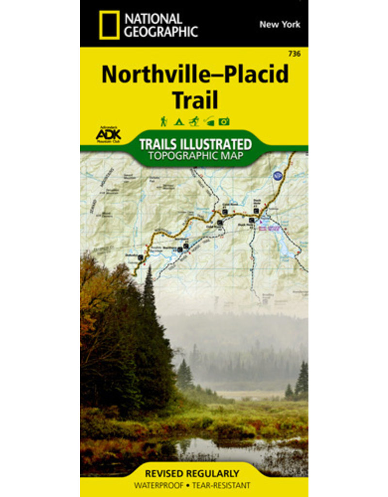 National Geographic Northville-Placid Trail T.I. Topographical Map (736)