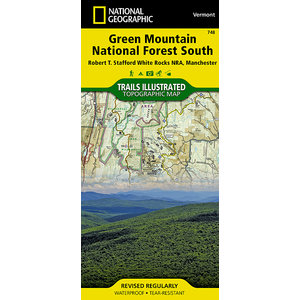 National Geographic Green Mountain National Forest South T.I. Topographical Map