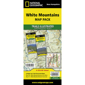 National Geographic White Mountain National Forest T.I. Topographical Map Bundle Pack