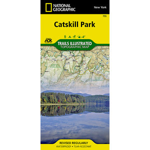 National Geographic Catskill Park T.I Topographical Map