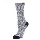 BearPaw Women's Aztec Jacquard Crew Socks - Black