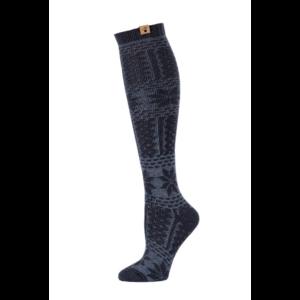 BearPaw Women's Fairisle Texture Knee High Socks - Black