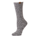 BearPaw Women's Chunky Cable Crew Socks - Gray