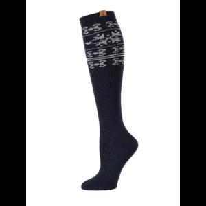 BearPaw Women's Nordic Knee High Socks - Black