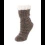 BearPaw Women's Ottoman Rib Sherpa Slipper Sock - Taupe