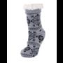 BearPaw Women's Nordic Sherpa Slipper Sock - Gray