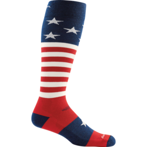Darn Tough Socks Men's Captain Stripe Cushion 1818 Stars & Stripes Large