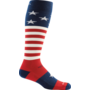 Darn Tough Socks Men's Captain Stripe Cushion 1818 Stars & Stripes Large
