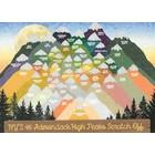 Peak Quest 46 ADK. High Peaks Scratch Card - Large 11x14