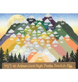 Peak Quest 46 ADK. High Peaks Scratch Card - Large 11x14