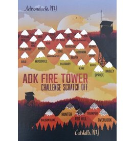 Peak Quest ADK Fire Tower Scratch Card 5x7