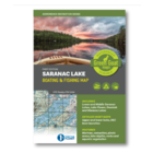 Green Goat Maps Saranac Lake Boat and Fishing Map