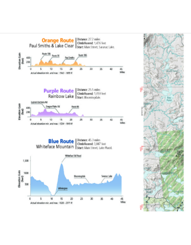 Green Goat Maps Lake Placid and Saranac Lake Cycling Map