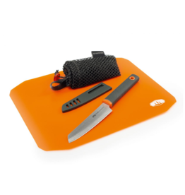GSI Outdoors Santoku Roll Up Cutting Board & Knife Set