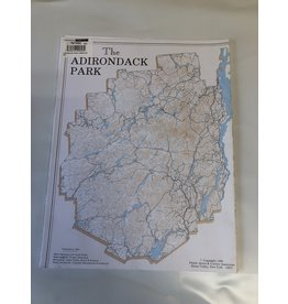 Adirondack Maps The Adirondacks Map Series - ADK Park, Canoe Map & More