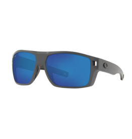 Costa Del Mar Diego Sunglasses 580P Matte Black Frame Blue Mirror Lens