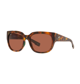 Costa Del Mar Waterwoman Sunglasses 580P Shiny Palm Tortoise Frame - Copper Lens