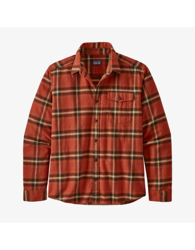 Patagonia Men's Long Sleeved Light Weight Fjord Flannel Shirt