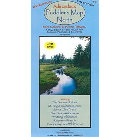 Blue Line Book Exchange Adirondack Paddler's Map North