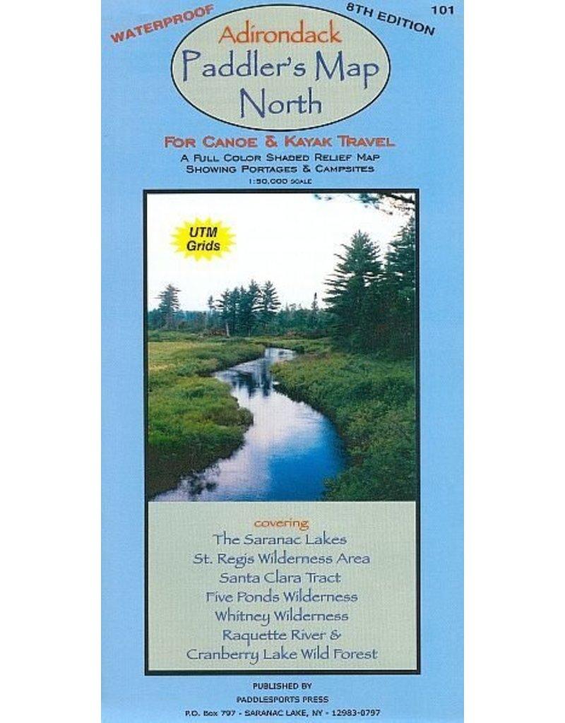 North Country Books Inc. Adirondack Paddler's Map North