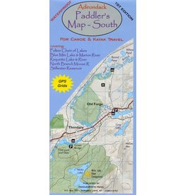 Blue Line Book Exchange Adirondack Paddler's Map South