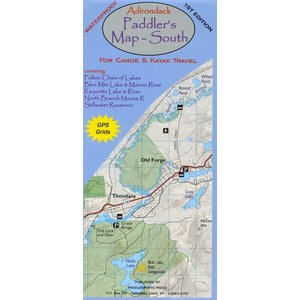 North Country Books Inc. Adirondack Paddler's Map South