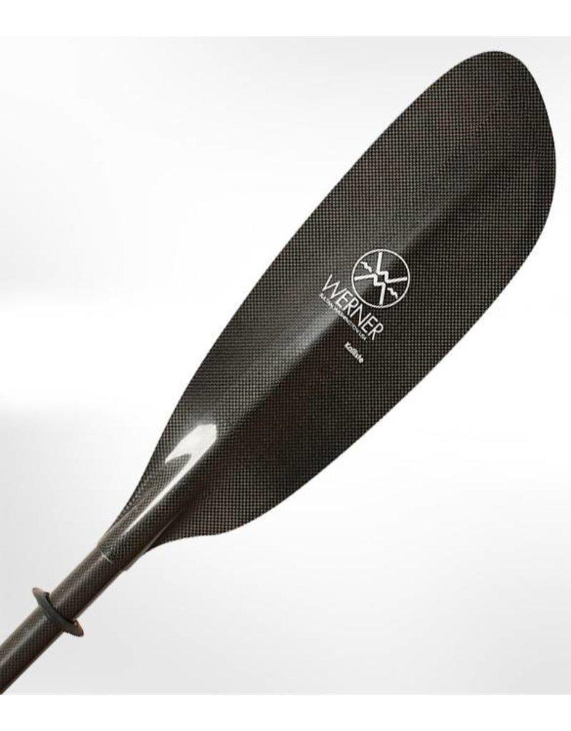 Werner Paddles Kalliste 2pc Carbon Fiber Straight Shaft Kayak Paddle