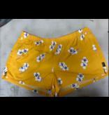 Patagonia Women's Barely Baggies Shorts Mariposa Lily Rugy Yellow Size XL
