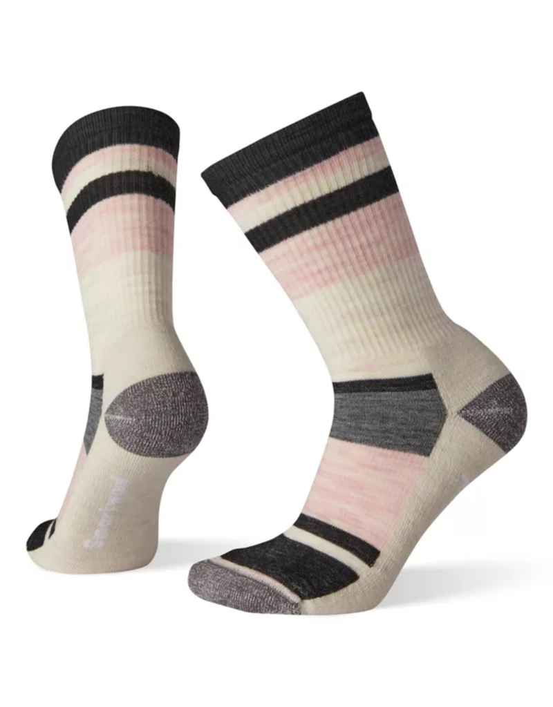 SmartWool Women's Striped Hike Light Cushion Crew Socks