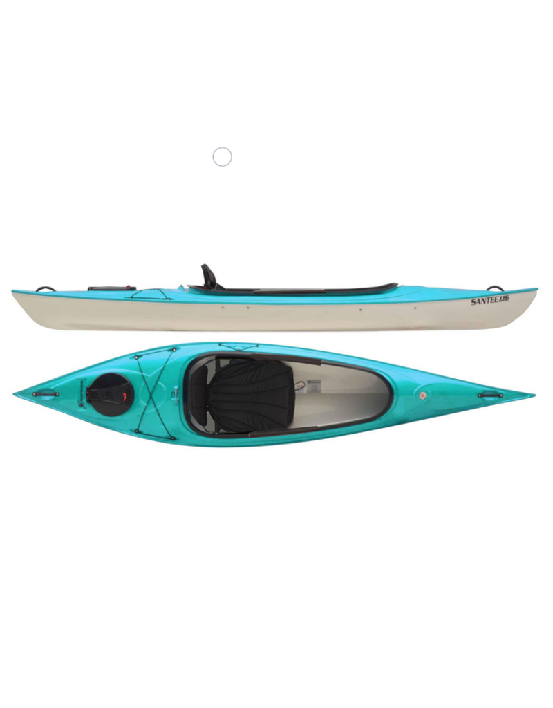 Hurricane Kayaks Santee 116 Sport Lightweight Recreational Kayak - 2021