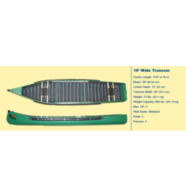 Radisson Canoes 16' Wide w/ Webb Seats - Green - 2021