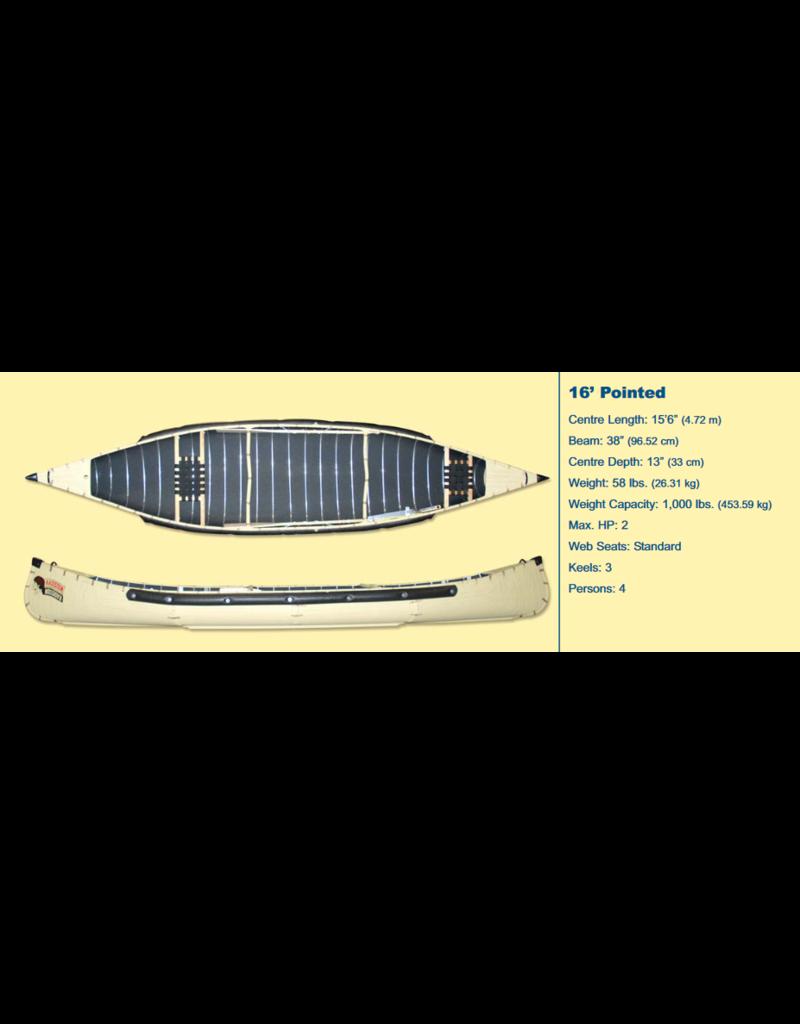 Radisson Canoes 16' Pointed w/ Webb Seats - Green - 2021